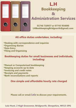 L.H Bookkeeping and Administration Services